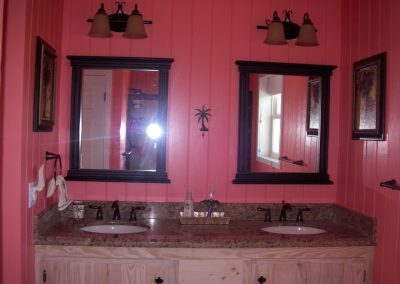 Master bath with vanities